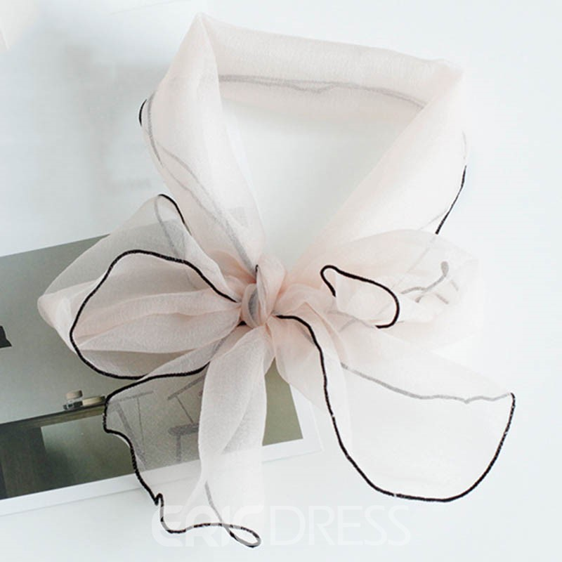 Ericdress Organza Fluffy Solid Color Decorated Scarf
