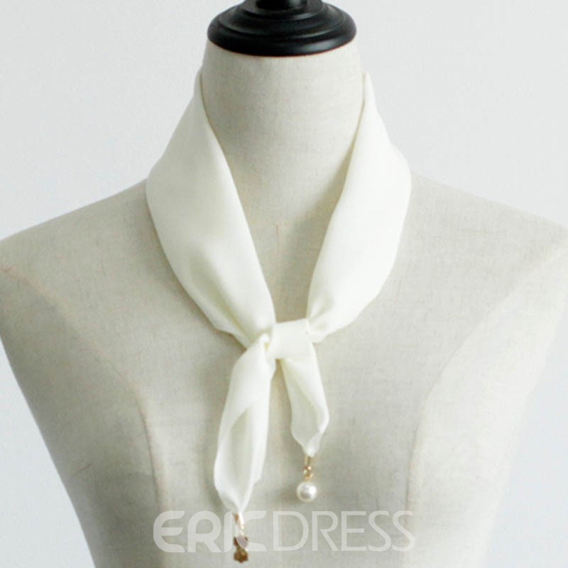 Ericdress Metal Ornament Chiffon Bevel Angle Women's Scarf