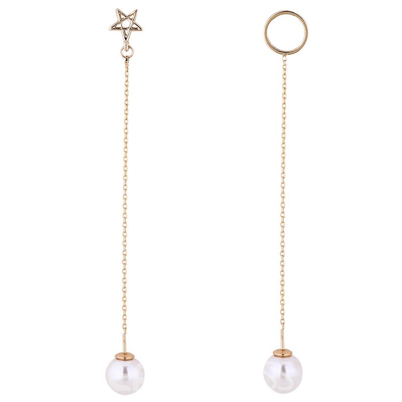 Ericdress Long Geometry & Star Design Imitation Pearl Earrings