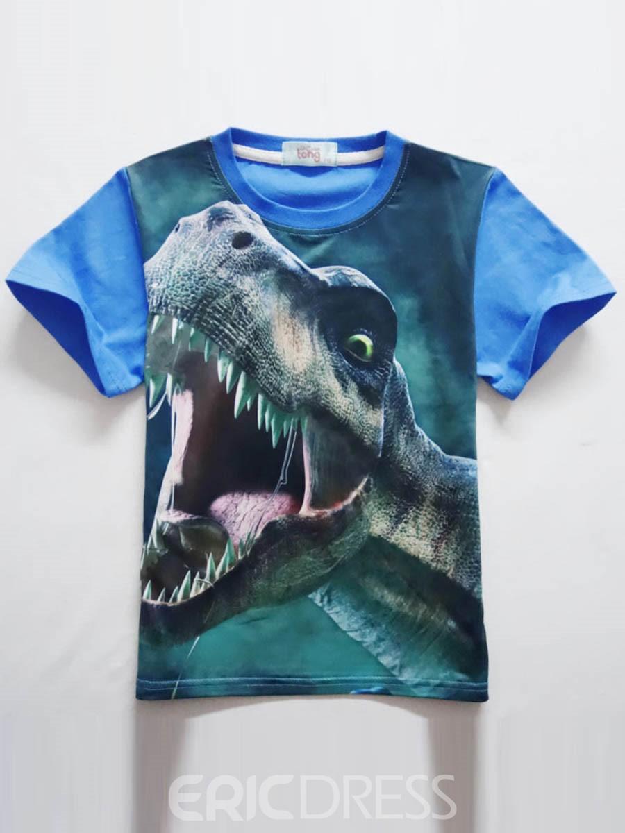 Ericdress Patchwork Print Short Sleeve Boys T-Shirt