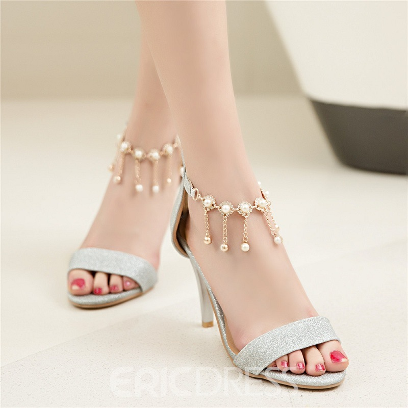 Ericdress Shining Sequins&tassels Stiletto Sandals