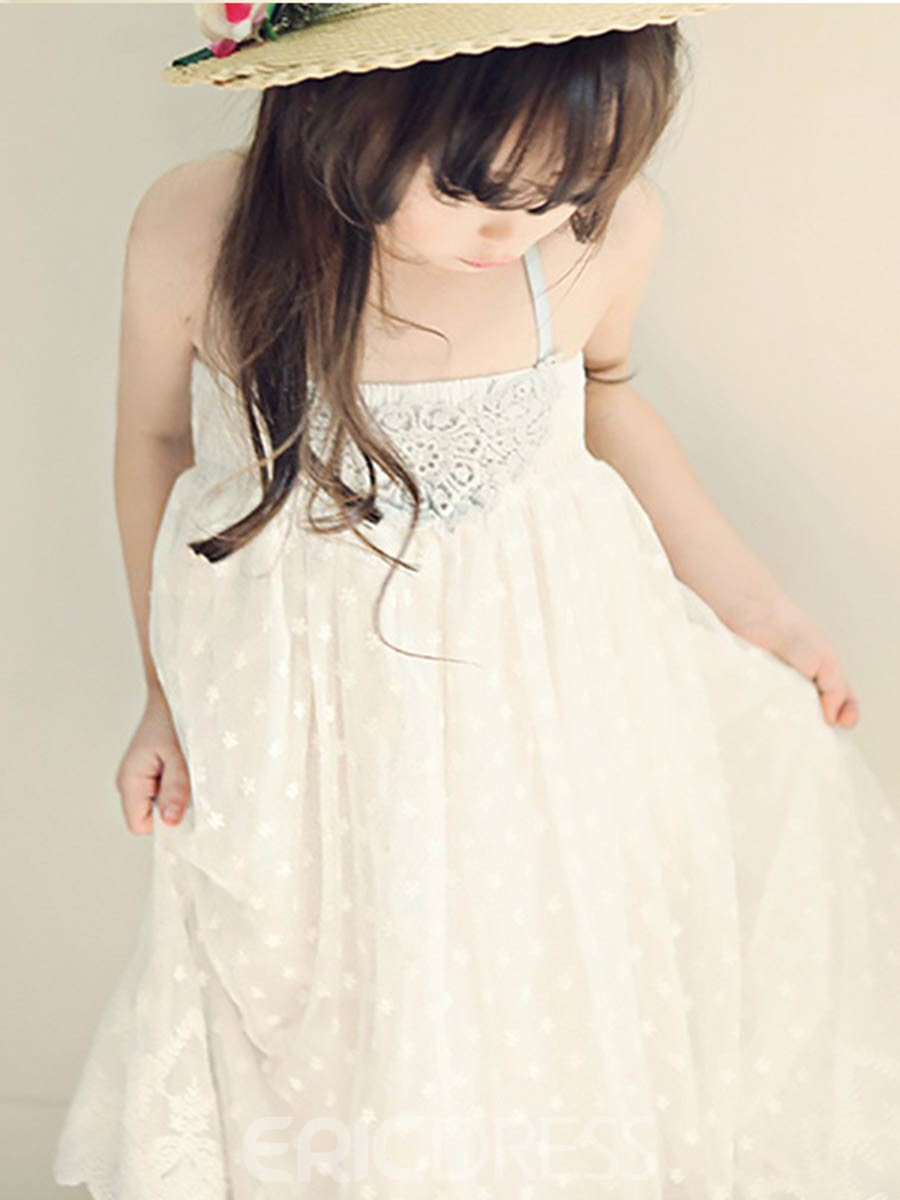 Ericdress Lace Spaghetti Strap Sweet Ball Gown Dress