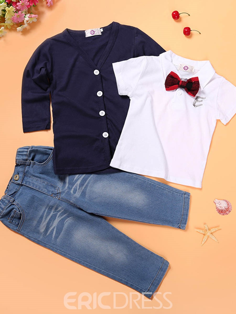 Ericdress Shirt Coat Pants Gentleman 3-Pcs Boys Outfits