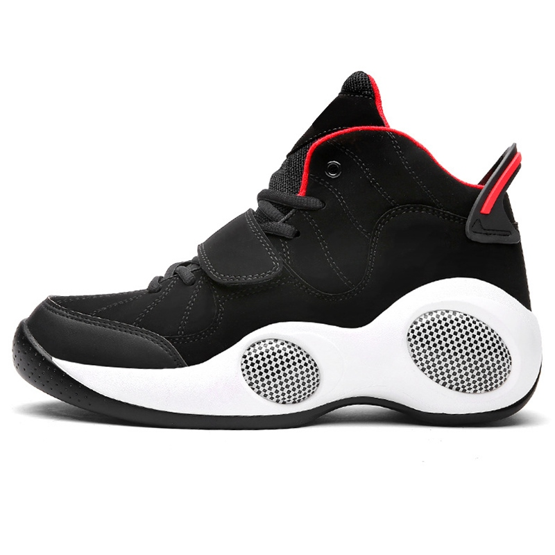 Mens Red Velcro Athletic Shoes