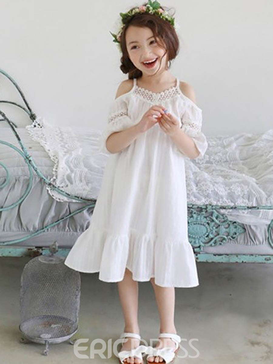 Ericdress Spaghetti Strap Hollow Princess Sleeve Dress