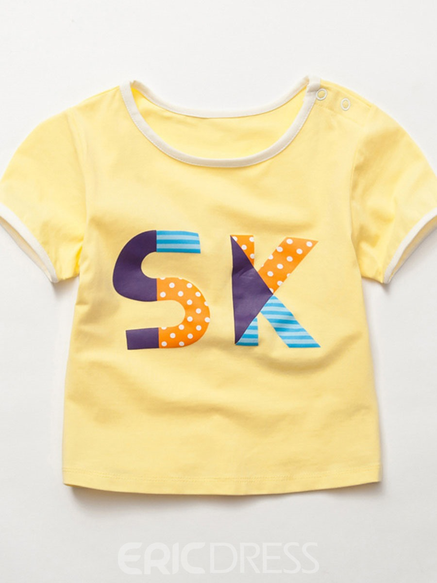 Ericdress Sk Printing Patchwork Short Sleeve Boys T-shirt