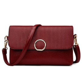 Ericdress Mini Vertical Stripe Envelope Crossbody Bag