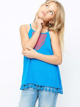 Ericdress Tassel Embroidery Ethnic Girls Tank Top