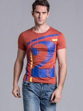 Ericdress Unique Number Print Slim Casual Men's T-Shirt