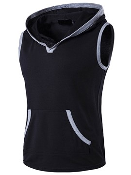 Ericdress Hood Sleeveless Pullover Men's Vest