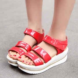 Ericdress Chic Open Toe Velcro Wedge Sandals