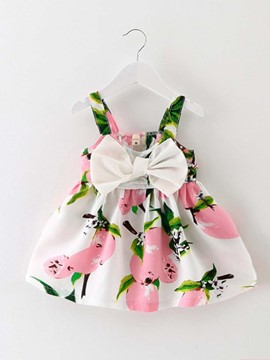 Ericdress Cute Big Bowknot Floral Above Knee Dress