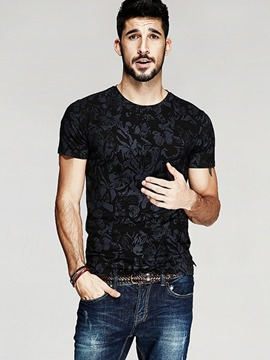 Ericdress Short Sleeve Print Slim Men's T-Shirt