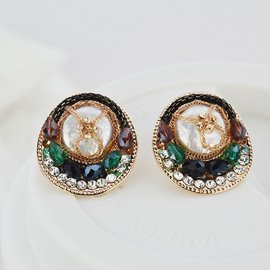 Ericdress Artificial Crystal Mosaic Chain Decorated Earrings