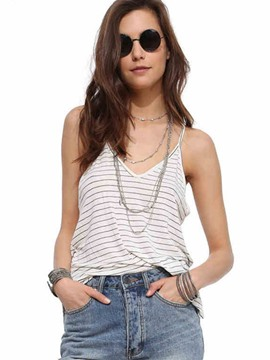 Ericdress Loose Stripped Casual Vest