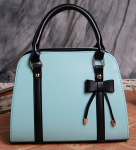 Ericdress Stylish Color Block Bowknot Decorated PU Handbag