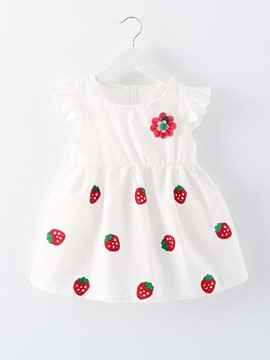 Ericdress Appliques Ruffle Sleeve Summer Dress