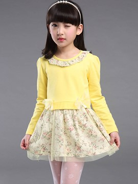 Ericdress Sweet Flower Fall Princess Girl Dress
