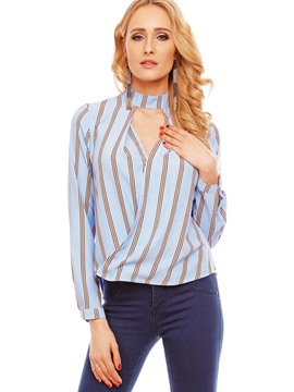 Ericdress Loose Stripped Blouse