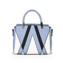 Ericdress Contrast Color Oblique Stripes PU Handbag