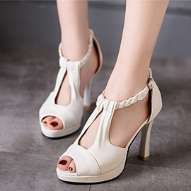 Ericdress Trendy OL Peep Toe Stiletto Sandals