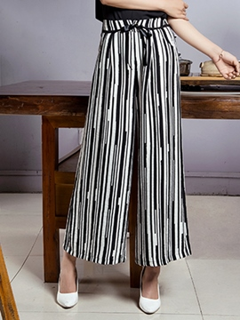 Ericdress High Waisted Wide Leg Women's Pants