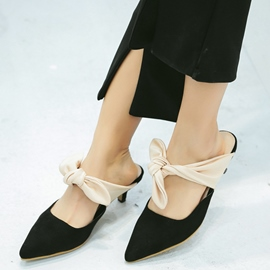 Ericdress Sweet Lace up Bowtie Point Toe Mules Shoes