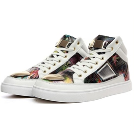 Ericdress Trendy Floral&metal High Top Men's Sneakers