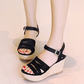 Ericdress Pretty Cross Strap Wedge Sandals