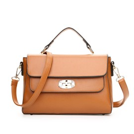 Ericdress Double Stitching Spin Lock Handbag