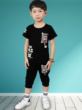Ericdress Number Printed 2-Pcs Casual Summer Boys Outfit