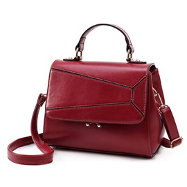 Ericdress Korean Style Stitching Lock PU Handbag