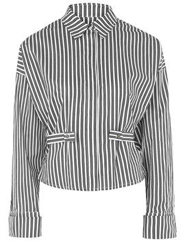 Ericdress Vertical Stripe OL Blouse