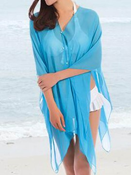Ericdress Casual Plain Single-Breasted Cover-Up