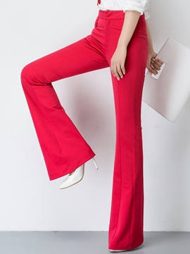 Ericdress Slim High-Waist Bell Bottom Women's Pants