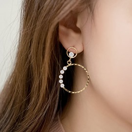 Ericdress S925 Silver Shining Diamante Earring