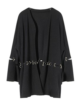 Ericdress Ring Oversized Boyfriend Style Jacket