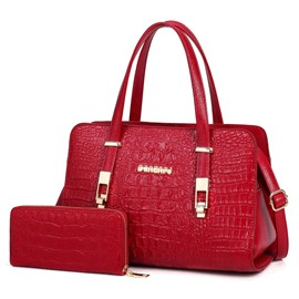 Ericdress Elegant Crocodile Grain Handbag(2 bags)