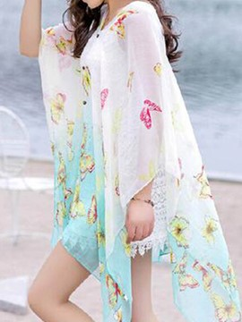 Ericdress Beautiful Butterfly Print Cover-Up