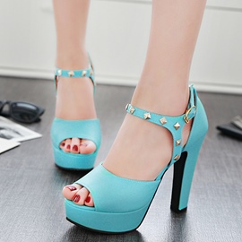 Ericdress OL Rivets Decorated Platform Chunky Sandals