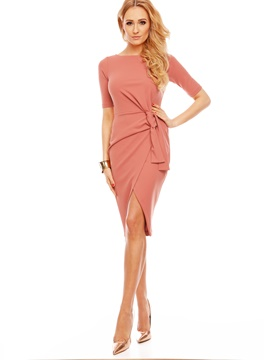 Ericdress Elegant Plain Half Sleeves Sheath Dress