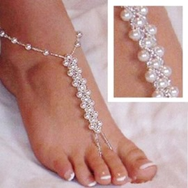 Ericdress Splendid Artificial Pearls Beading Women's Anklet