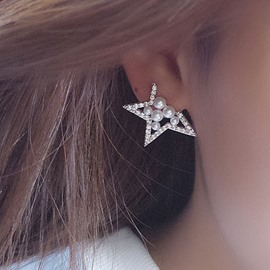 Ericdress Missing Angle Star Design Beading Earrings