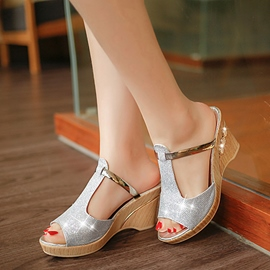 Ericdress Pretty Sequins Wedge Sandals