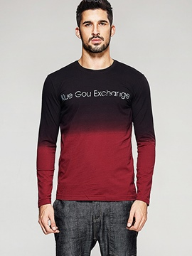 Ericdress Gradient Long Sleeve Men's T-Shirt