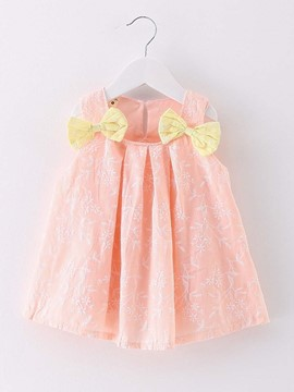 Ericdress 3D Bowknot Above Knee Peter Pan Dress