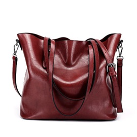 Ericdress Retro Huge Space Wax Leather Handbag
