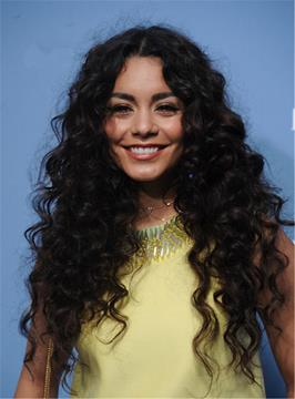 Ericdress Vanessa Hudgens Natural Messy Long Curly Center Part Synthetic Hair Lace Front Cap Wigs 24 Inches
