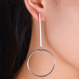 Ericdress Copper Circle Design European Style Earrings