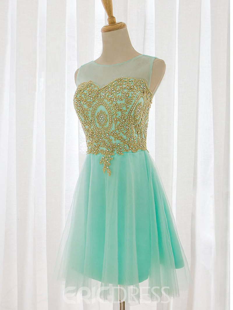 Ericdress A-Line Appliques Short Homecoming Dress